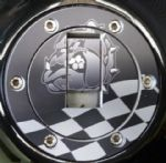 "TRIUMPH Petrol/Gas Cap. Aluminium Tank Decal: ""British Bulldog"""